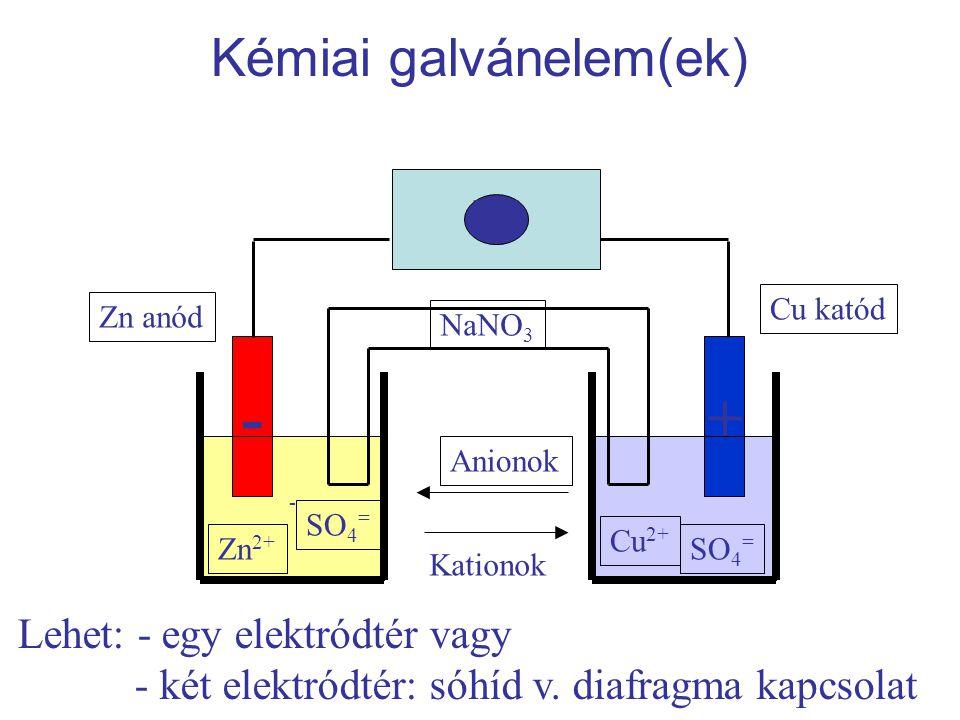 Kémiai galvánelem(ek)