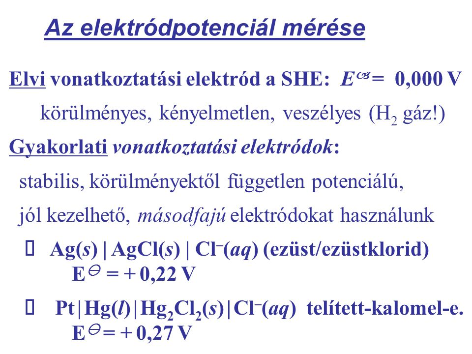 Az elektródpotenciál mérése