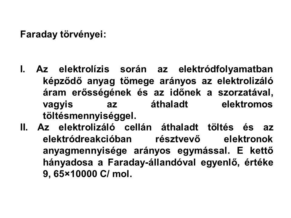Faraday törvényei: