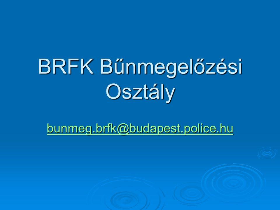 BRFK Bűnmegelőzési Osztály