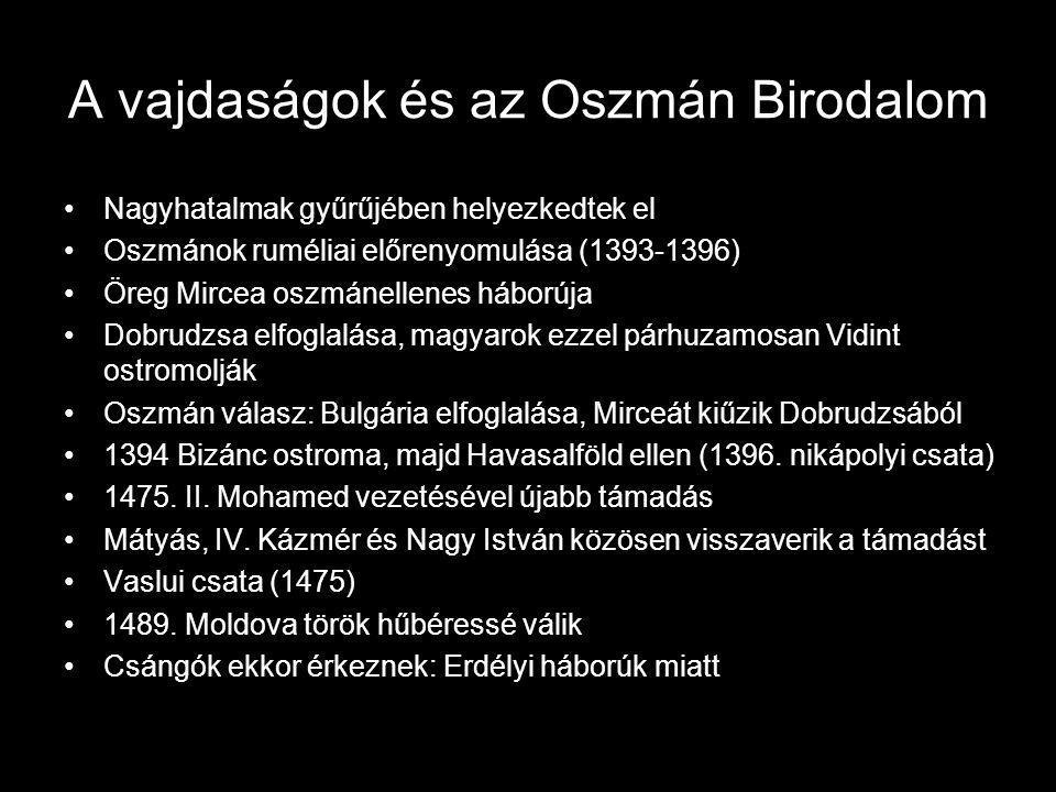 A vajdaságok és az Oszmán Birodalom