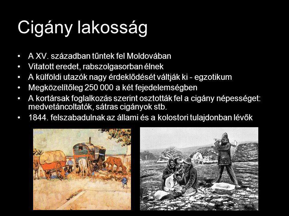 Cigány lakosság A XV. században tűntek fel Moldovában