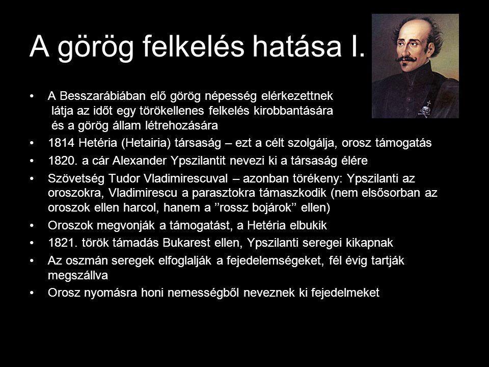 A görög felkelés hatása I.