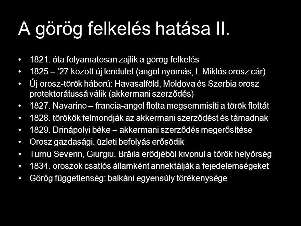 A görög felkelés hatása II.
