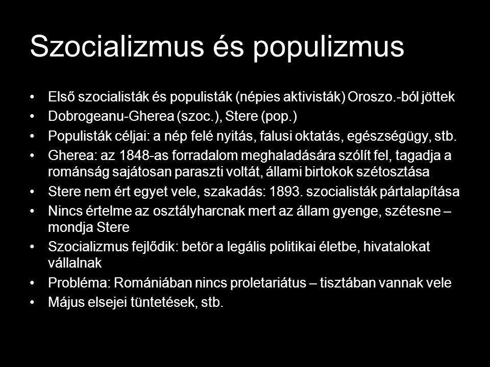 Szocializmus és populizmus