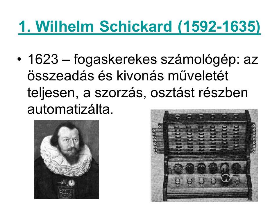 1. Wilhelm Schickard (1592-1635)
