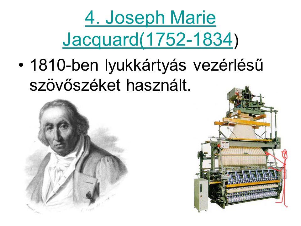 4. Joseph Marie Jacquard(1752-1834)