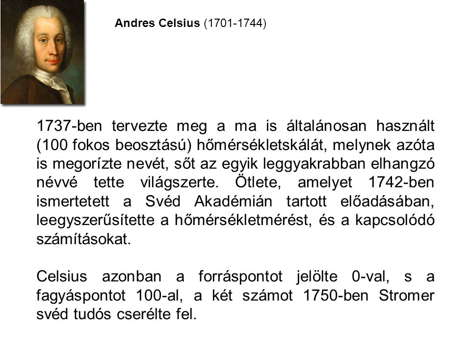 Andres Celsius (1701-1744)