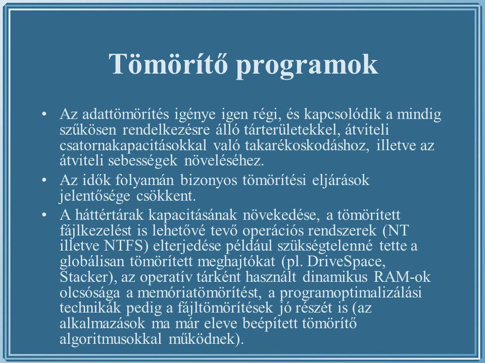 Tömörítő programok