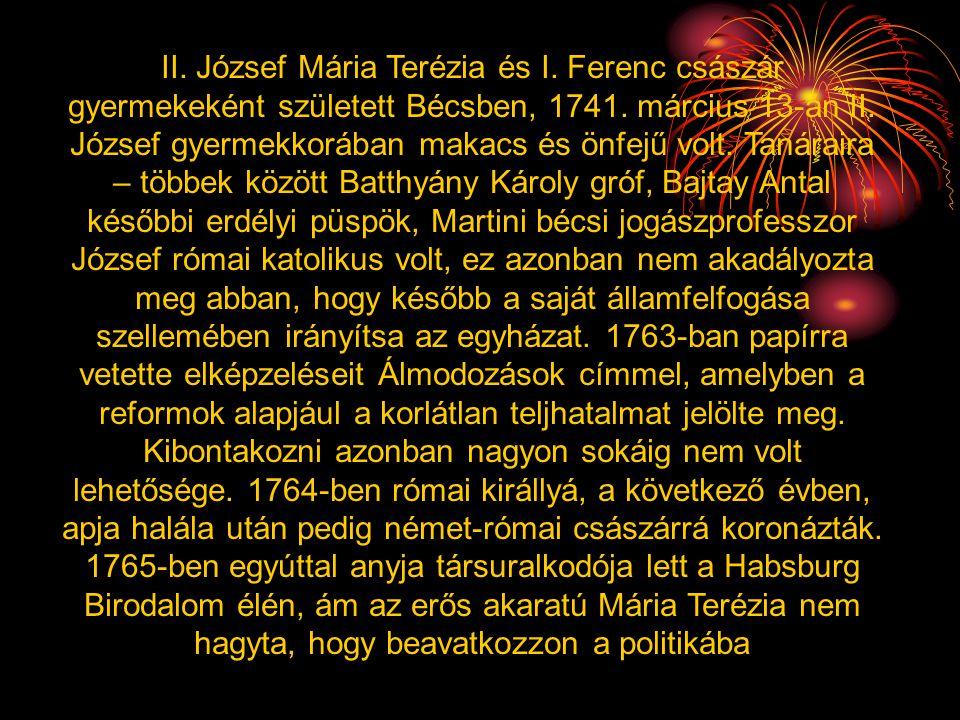 II. József Mária Terézia és I