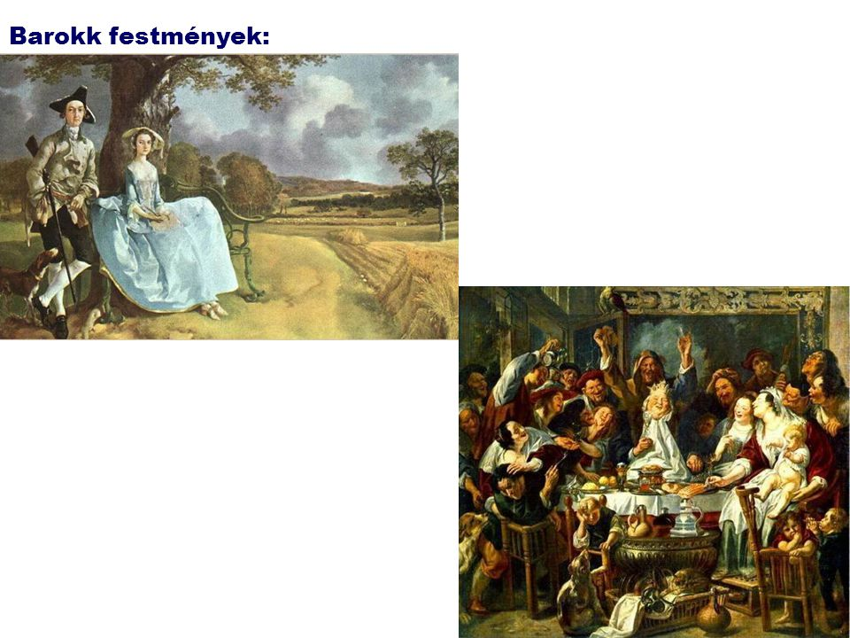 Barokk festmények: