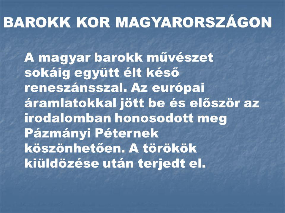 BAROKK KOR MAGYARORSZÁGON