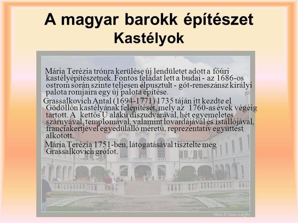 A magyar barokk építészet Kastélyok