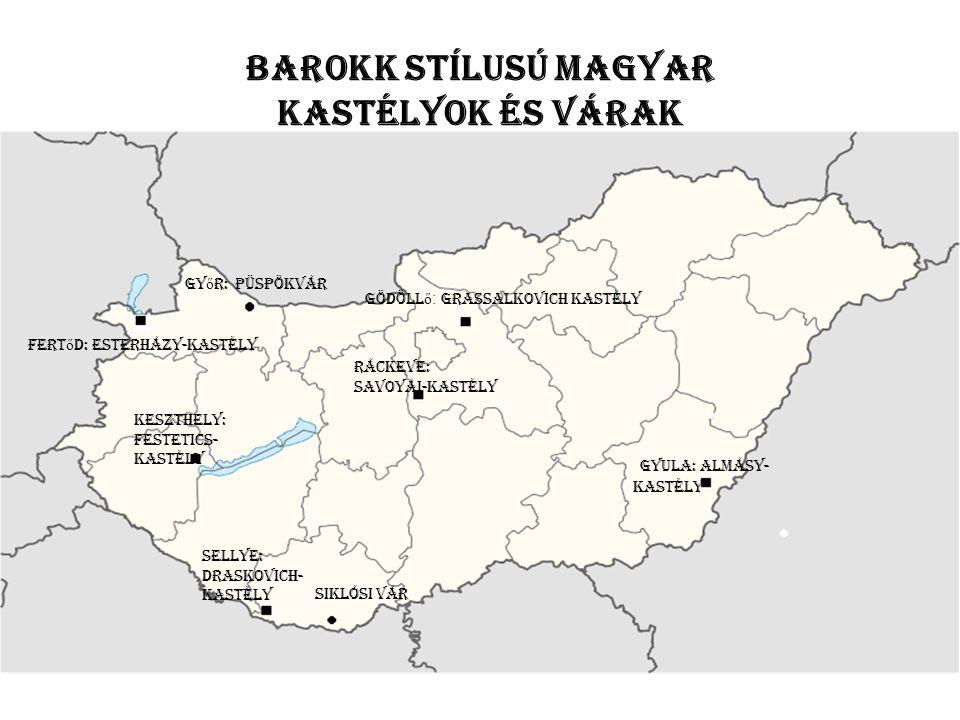 barokk stílusú magyar kastélyok és várak