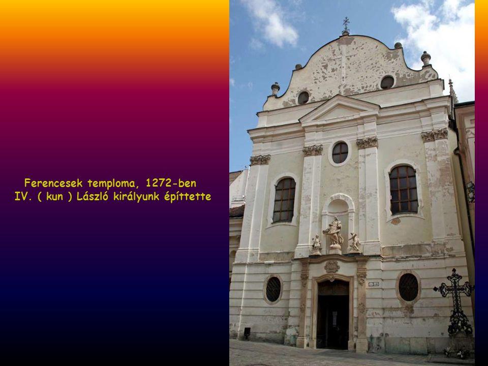 Ferencesek temploma, 1272-ben