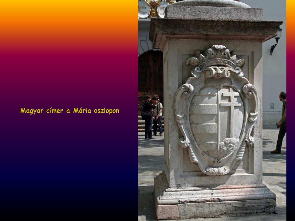 Magyar címer a Mária oszlopon
