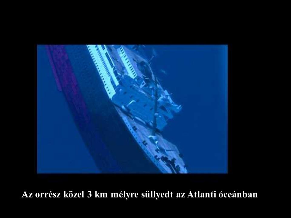 Az orrész közel 3 km mélyre süllyedt az Atlanti óceánban