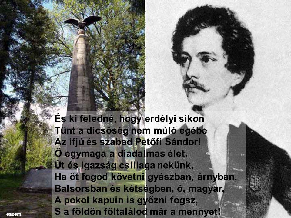 És ki feledné, hogy erdélyi síkon Tűnt a dicsőség nem múló egébe