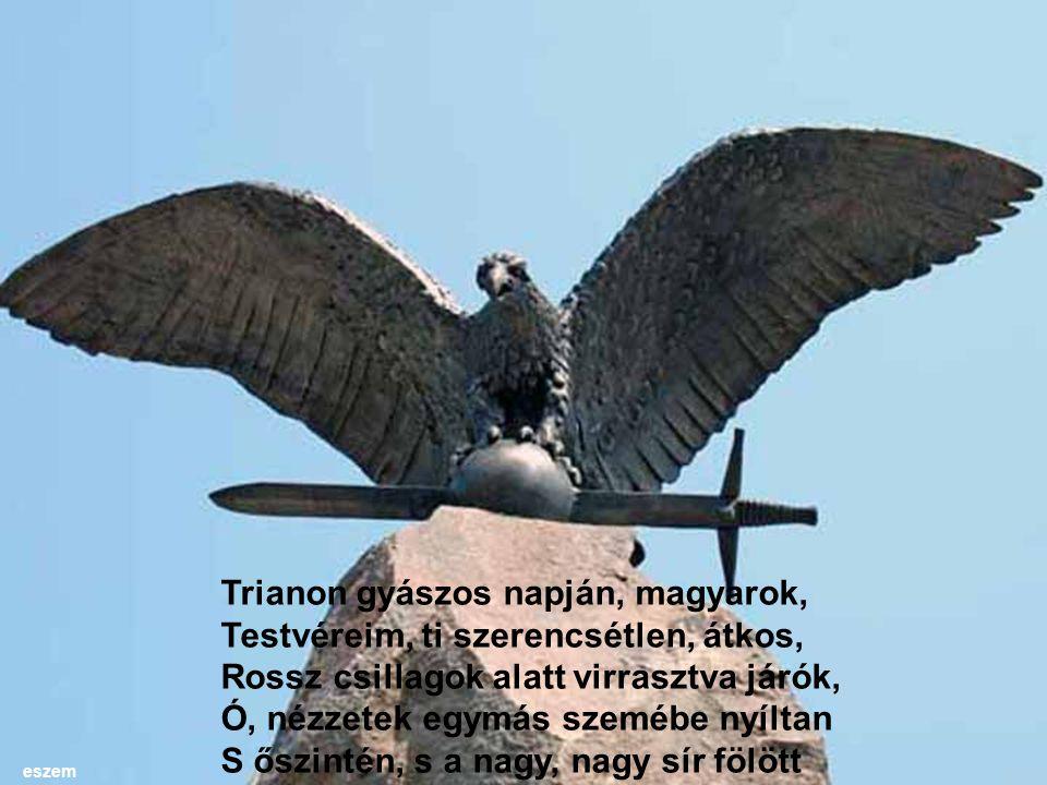 Trianon gyászos napján, magyarok, Testvéreim, ti szerencsétlen, átkos,