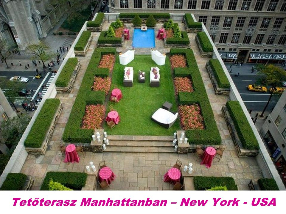 Tetőterasz Manhattanban – New York - USA