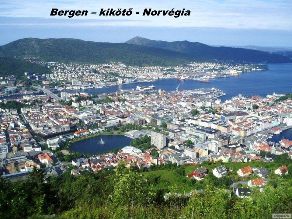 Bergen – kikötő - Norvégia