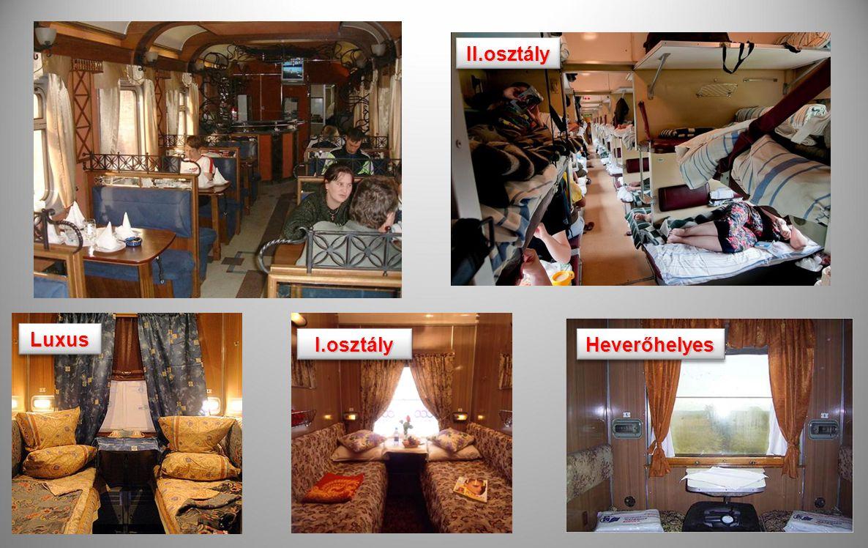 II.osztály Luxus I.osztály Heverőhelyes