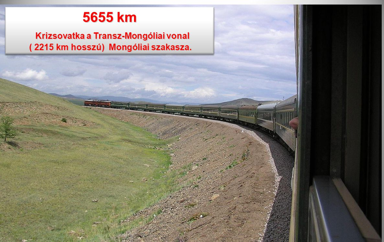 5655 km Krizsovatka a Transz-Mongóliai vonal