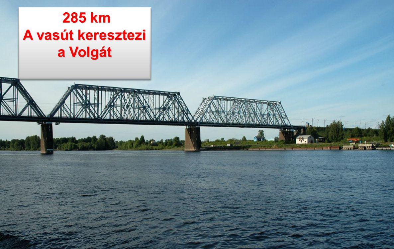 A vasút keresztezi a Volgát
