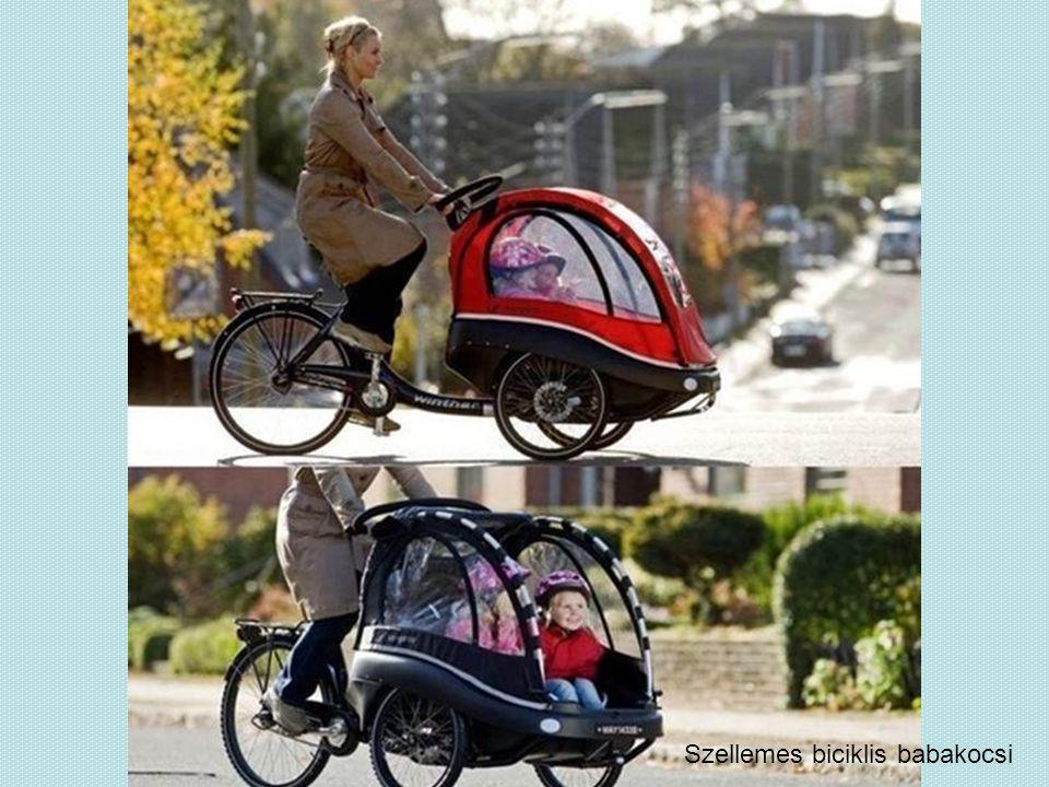 Szellemes biciklis babakocsi
