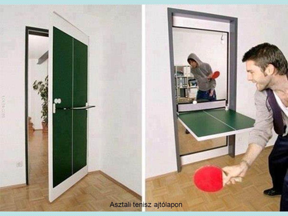 Asztali tenisz ajtólapon