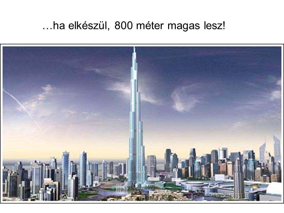 …ha elkészül, 800 méter magas lesz!