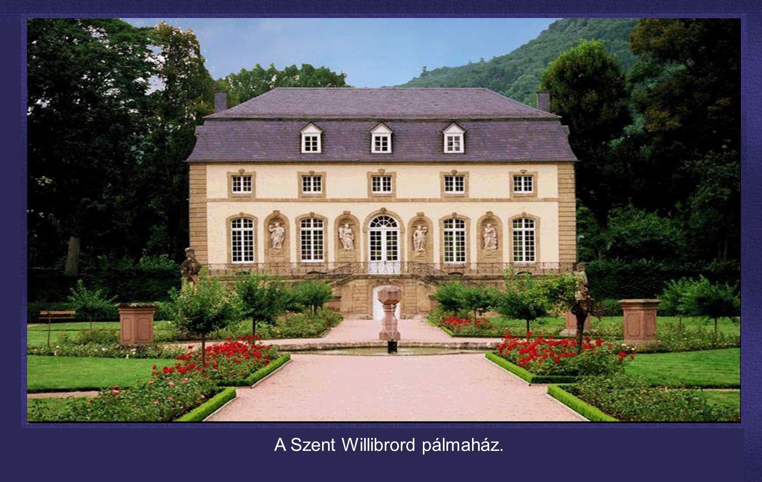 A Szent Willibrord pálmaház.