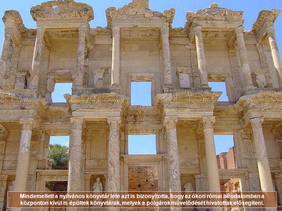 Mindemellett a nyilvános könyvtár léte azt is bizonyította, hogy az ókori római birodalomban a központon kívül is épültek könyvtárak, melyek a polgárok művelődését hivatottak elősegíteni.