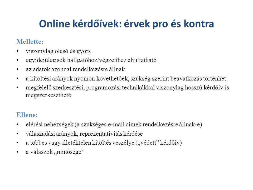Online kérdőívek: érvek pro és kontra