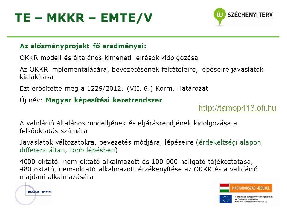 TE – MKKR – EMTE/V http://tamop413.ofi.hu