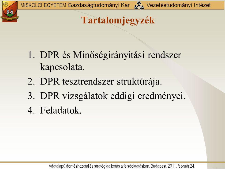 DPR és Minőségirányítási rendszer kapcsolata.