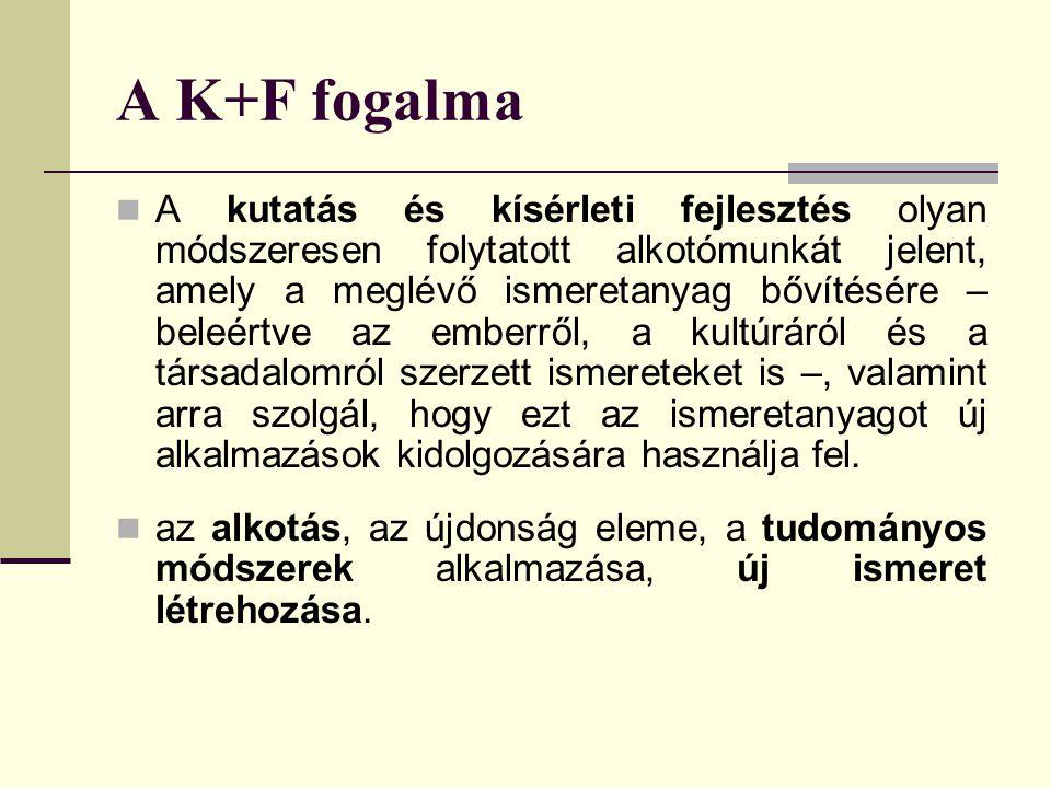 A K+F fogalma