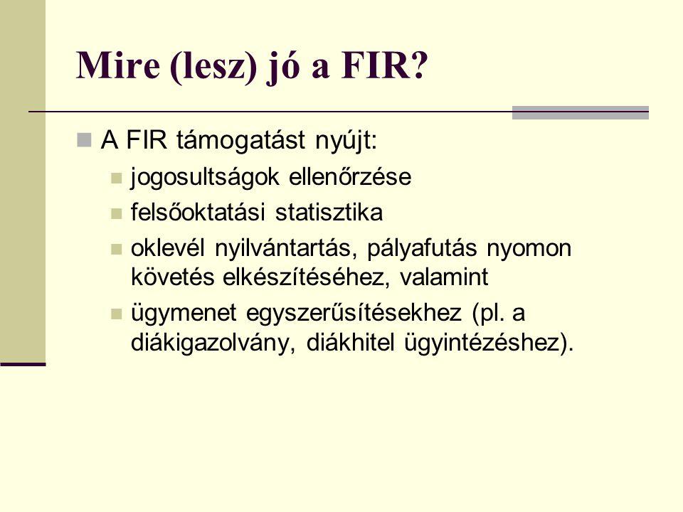 Mire (lesz) jó a FIR A FIR támogatást nyújt: