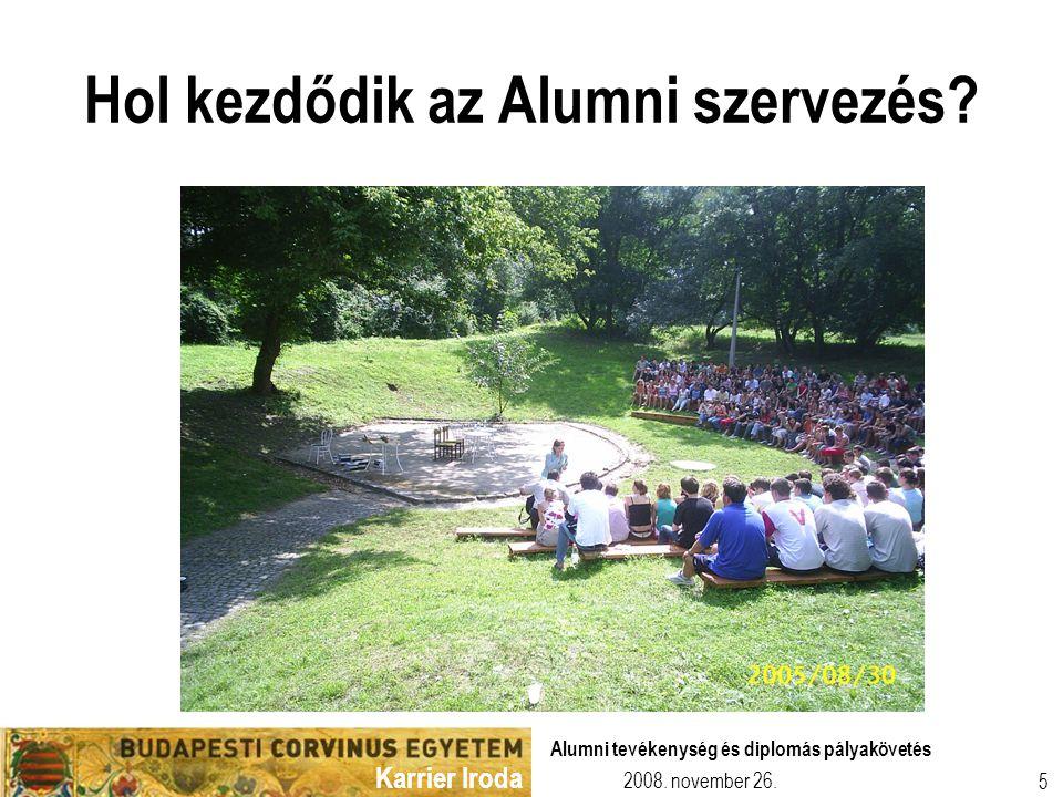 Hol kezdődik az Alumni szervezés