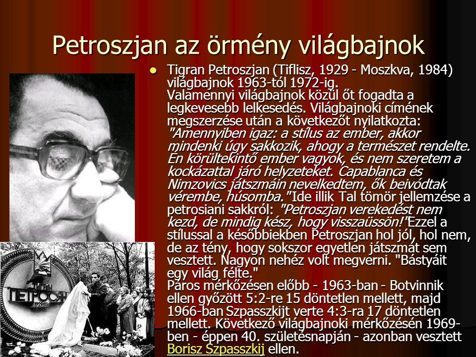 Petroszjan az örmény világbajnok