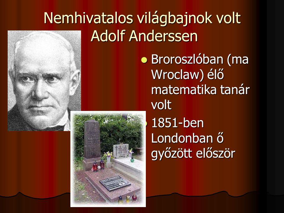 Nemhivatalos világbajnok volt Adolf Anderssen