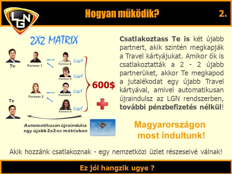 Hogyan működik 2. 600$ Magyarországon most indultunk!