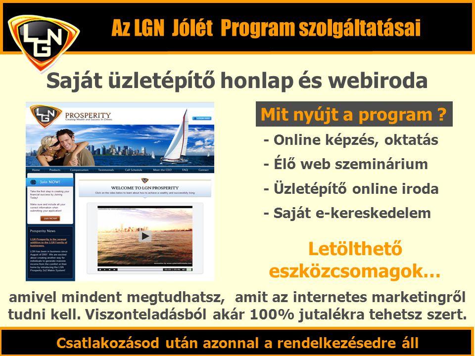 Saját üzletépítő honlap és webiroda