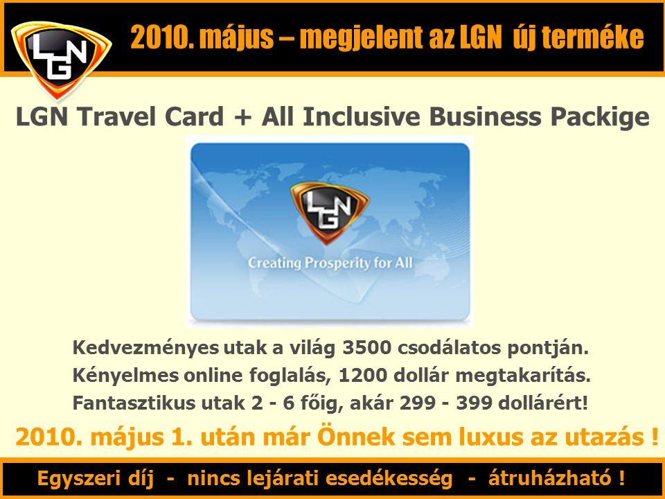 2010. május – megjelent az LGN új terméke