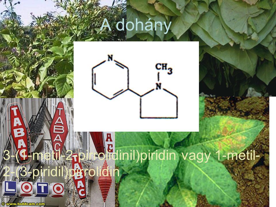 A dohány 3-(1-metil-2-pirrolidinil)piridin vagy 1-metil-2-(3-piridil)pirrolidin
