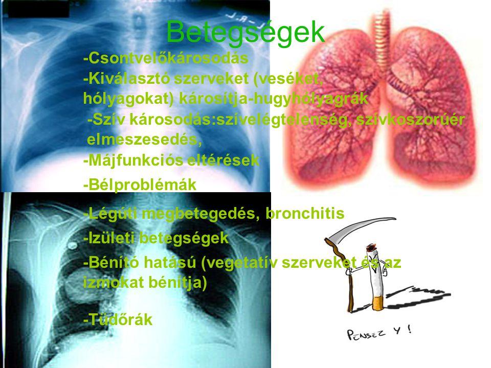 Betegségek -Csontvelőkárosodás