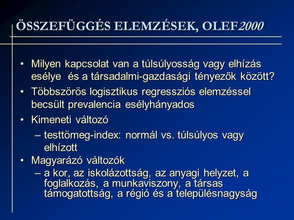 ÖSSZEFÜGGÉS ELEMZÉSEK, OLEF2000