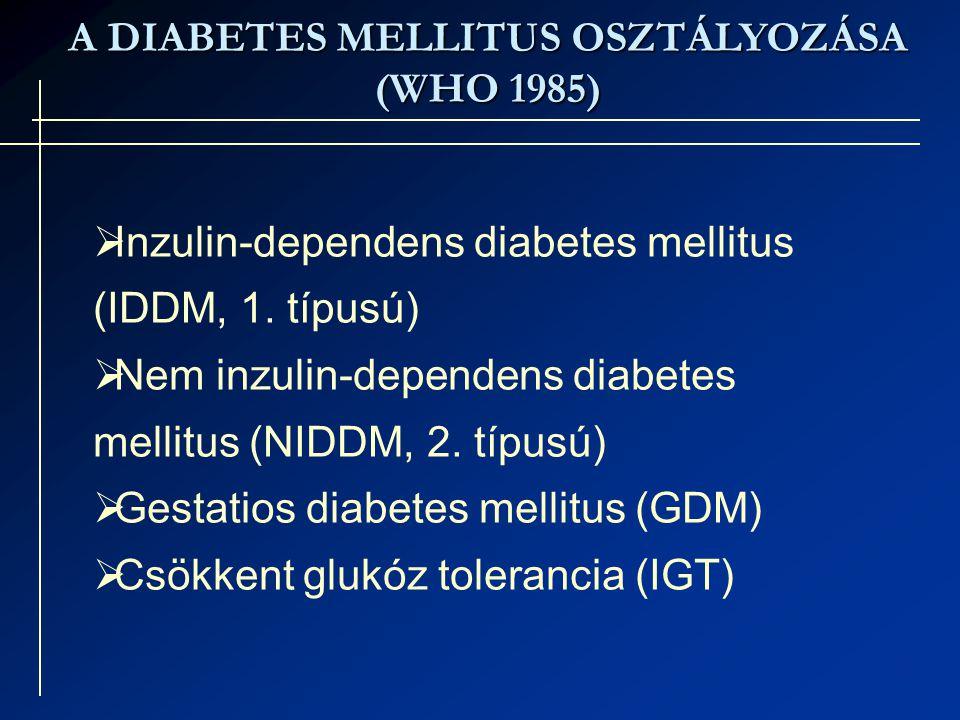 A DIABETES MELLITUS OSZTÁLYOZÁSA
