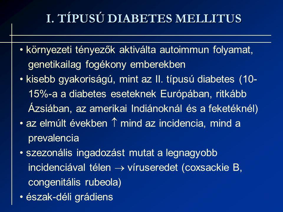 I. TÍPUSÚ DIABETES MELLITUS
