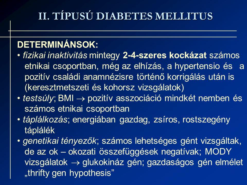 II. TÍPUSÚ DIABETES MELLITUS